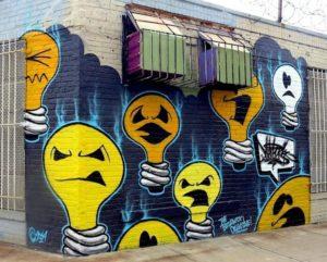 "Un murale di Jonathan ""Meres One"" Cohen"